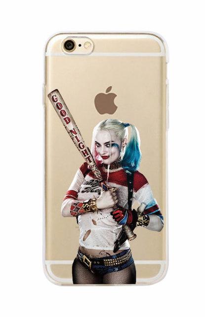 Suicide Squad Harley Quinn Joker Soft Phone Case For iPhone 7 7Plus 6 6S 6Plus 5 5S SAMSUNG
