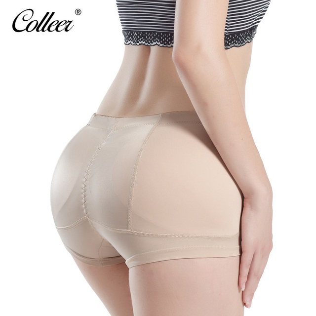 94caadbc7 COLLEER Womens Sexy Panties Hip Booster Boxer Short Padded Panty Fake Ass  Mid Waist Underwear Butt Lift Body Panties M-4XL