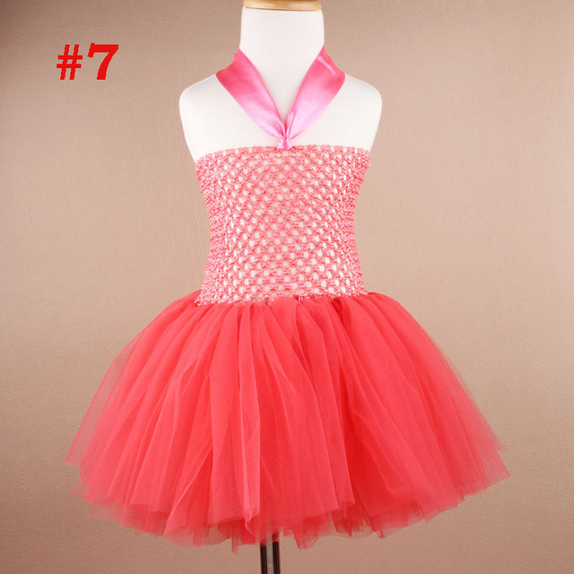 Fashion 3 To 24 Month First Birthday Crochet Dress Baby Girl Party Dress