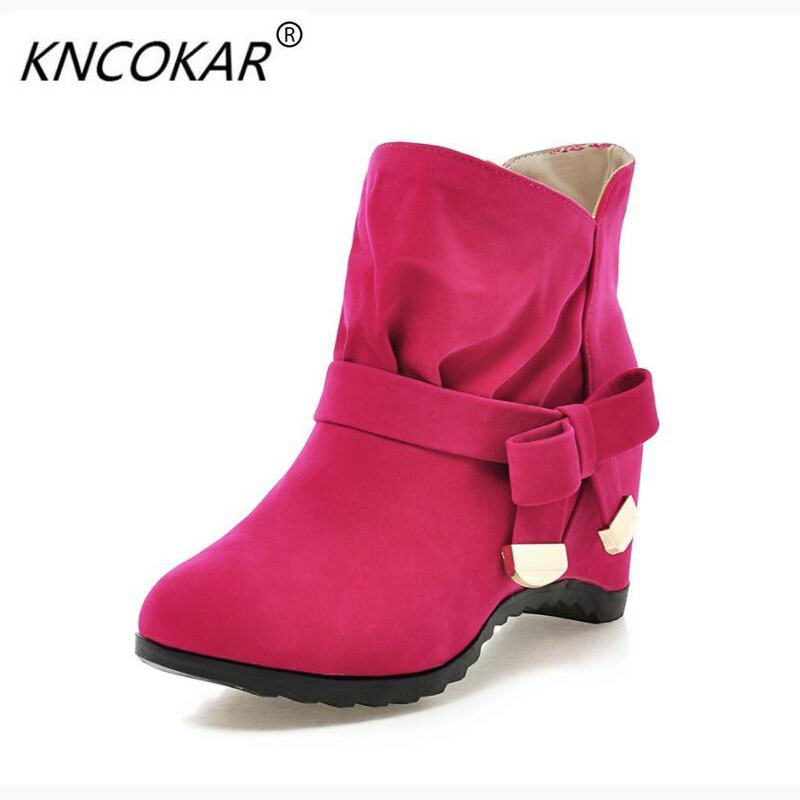 KNCOKAR Increased within short boots with Martin boots in the new age season 2017 short tube single boots for women's shoes майка классическая printio slayer season in the abyss 1990