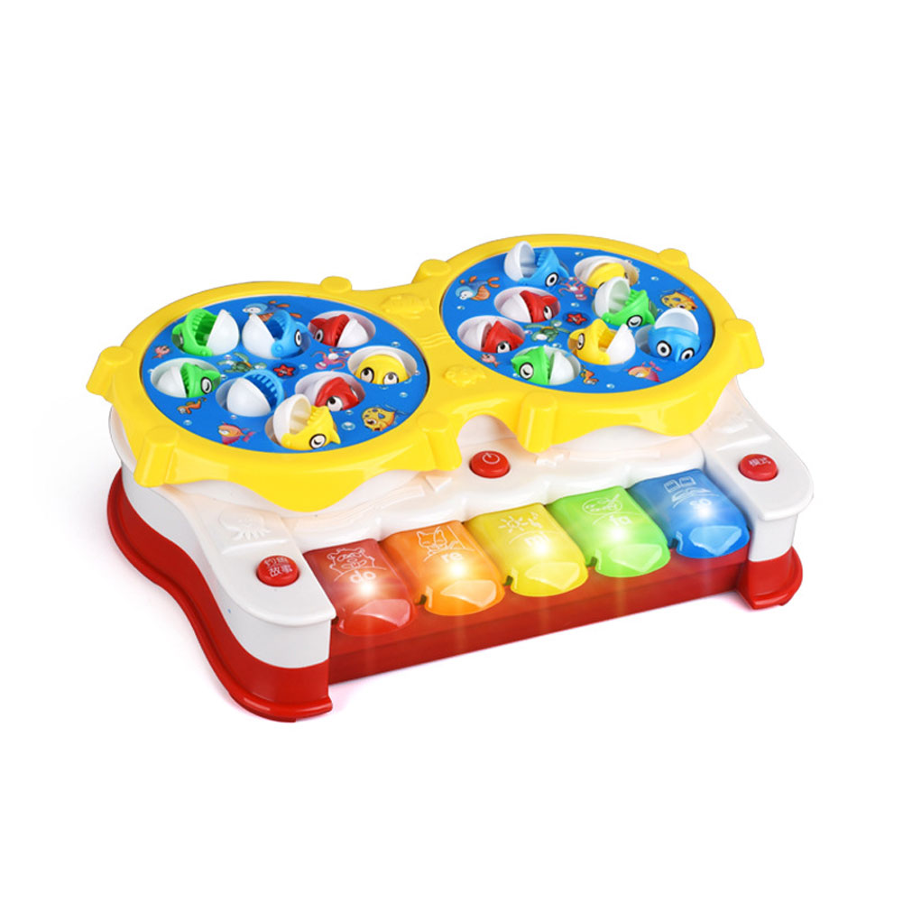 2018 New 2in1 Function Baby Kids Toys Classical Songs Fishing&Music Toy with Lights Toy  ...