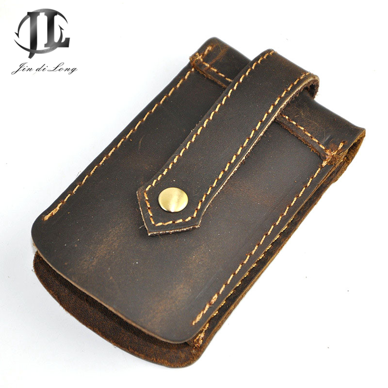 *# New Crazy Horse Genuine First Layer leather Men Key & Car key Wallets key wallets Fashion unisex housekeeper card holders