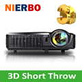 Ultra Short Throw Projector 3D HD 1080P LED  DLP Beamer High Lumens Projectors for Daytime Business Office School Church Home