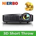 Ultra Short Throw Proyector 3D HD 1080 P LED Proyector DLP Altos Lúmenes Proyectores para el Día de Negocios Oficina de La Escuela de La Iglesia casa