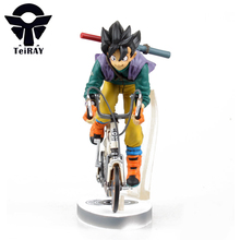 Dragon Ball Z Son Goku Équitation Vélo Figuras 23 Cm Japon Anime mignon Pvc Figurines Bandai Figma Enfants Chaude Jouets pour Enfants garçons