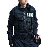 Военный тактический жилет черный спецназ ФБР полицейский жилет высокого качества Magic Stick CS Molle защитный боевой жилет полицейское оборудован...