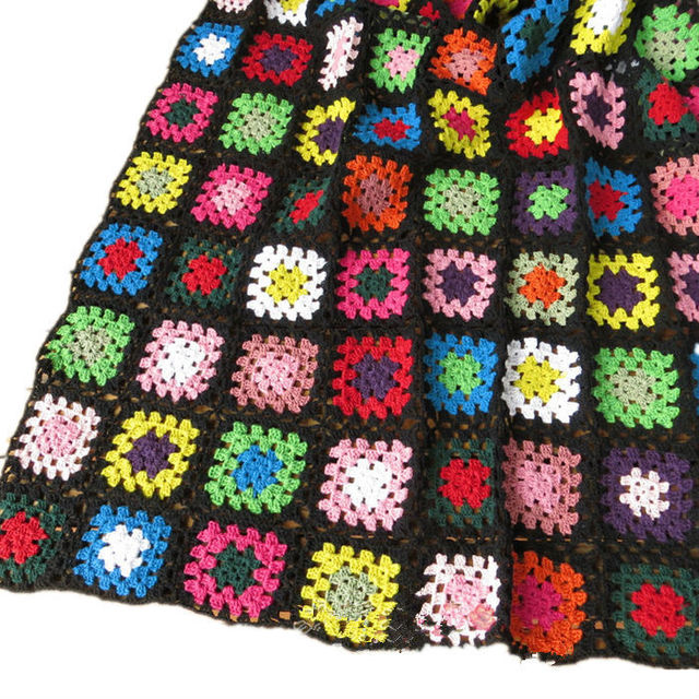 Handmade Crochet Tablecloth Cotton Multi Color Sofa Towel Handmade