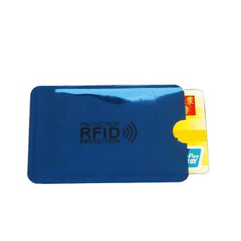 2PC Anti Rfid etui na karty kredytowe bankowa karta identyfikacyjna pokrowiec Holder Identity futerał ochronny przenośny wizytownik tanie i dobre opinie weduoduo Metalowe Unisex CN (pochodzenie) Stałe 9 1cm H042 6 3cm Nie zamek Moda Pillow Karta kredytowa metallic Phone card sets