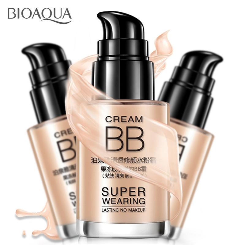 BIOAOUA Whitening BB Cream Skin Care Sunscreen Moisturizing Sunscreen Whitening Natural Moisturizing Concealer Whitening Liquid