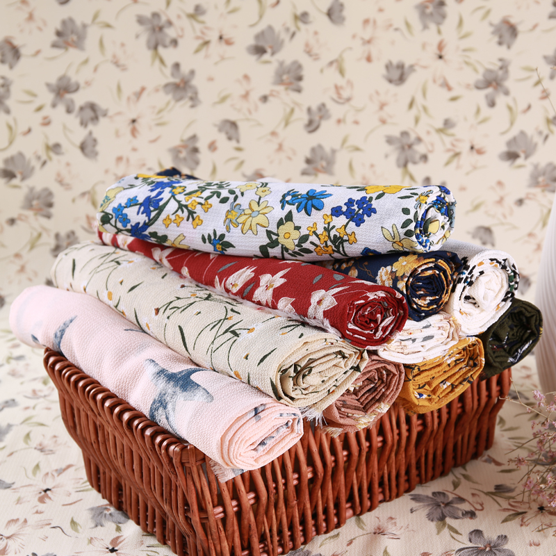Printed chiffon fabric Summer dress fabric Thick fragmented Paris pearl Chiffon foam fabric in Fabric from Home Garden