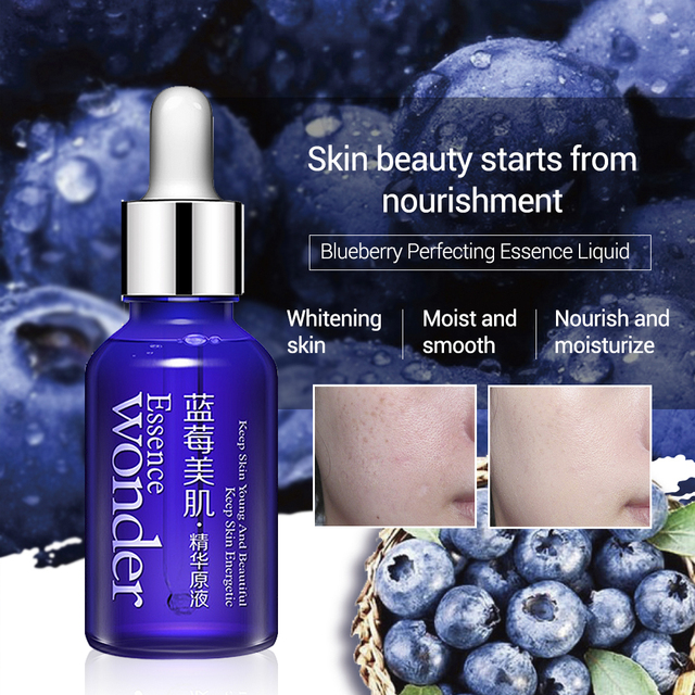 BIOAQUA Blueberry Hyaluronic Serum Acid Liquid Skin Care Anti Wrinkle Collagen Essence Face Care Whitening Moisturizing Oil 5