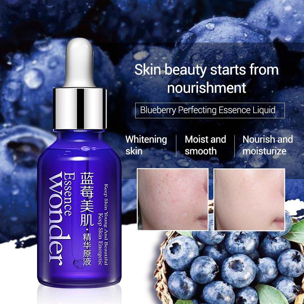 Bioaqua Blueberry Wonder Essence Face Serum Anti Wrinkle Kerut Aging Belvin Drops 15ml Hyaluronic Acid Liquid Skin Care Collagen Whitening Moisturizing
