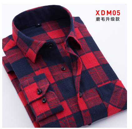 2018 HOHO new plaid shirt men long sleeve shirt, cultivate ones morality shirt young MAO leisure mens clothing