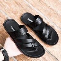 Genuine Leather Sandals Male Slipper Outdoor Beach Men Summer Flip Flop Shoes Flip Flops Men Fashion Home Non slip Slippers