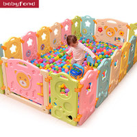 2018 Special Offer Cercadinho Baby Playpen Fence Kitchen Children Toys Child Infant Fence Guardrail Game Protective Toy 18+ 2