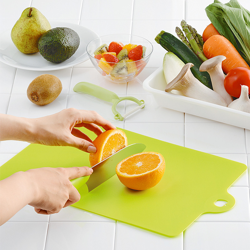 Ultra-thin inomata antibiotic resin soft cutting board plastic classification fruit chopping block