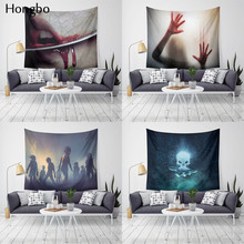 Hongbo Scary Blood Wall Hanging Tapestry Carpet Halloween Party Wall Cloth Tapestries For Home Bar Halloween DIY Decor