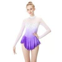 Figure Skating Dress Women's / Girls' Ice Skating Dress Purple Halo Dyeing