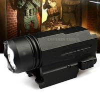 LED Glock Gun Light 600 Lumen Tactical Torch Flashlight With Release Weaver Mount For Pistol Airsoft