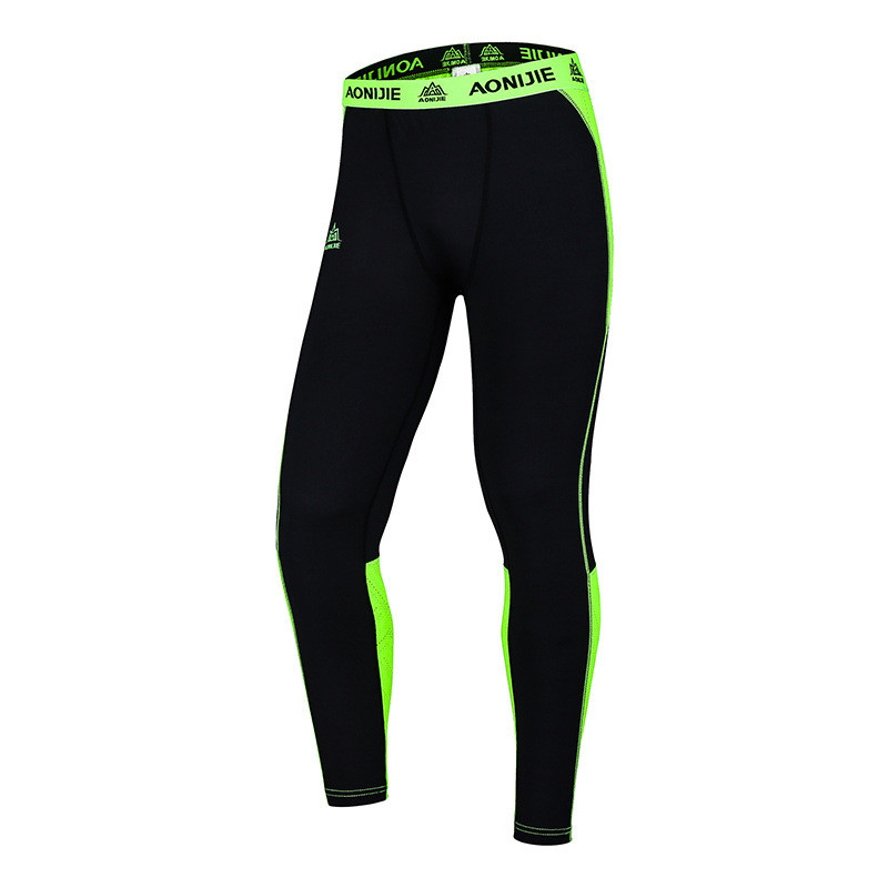 AONIJIE New Mens Running Sport Leggings Quick Dry Breathable Cycling Gym Exercise Compre ...