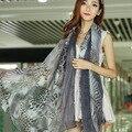 Xales e Cachecóis moda Mulheres Leopardo Mulheres Foulard Cachecol Feminino Lenços De Pescoço Lenços Echarpes Bufanda Mujer Femme