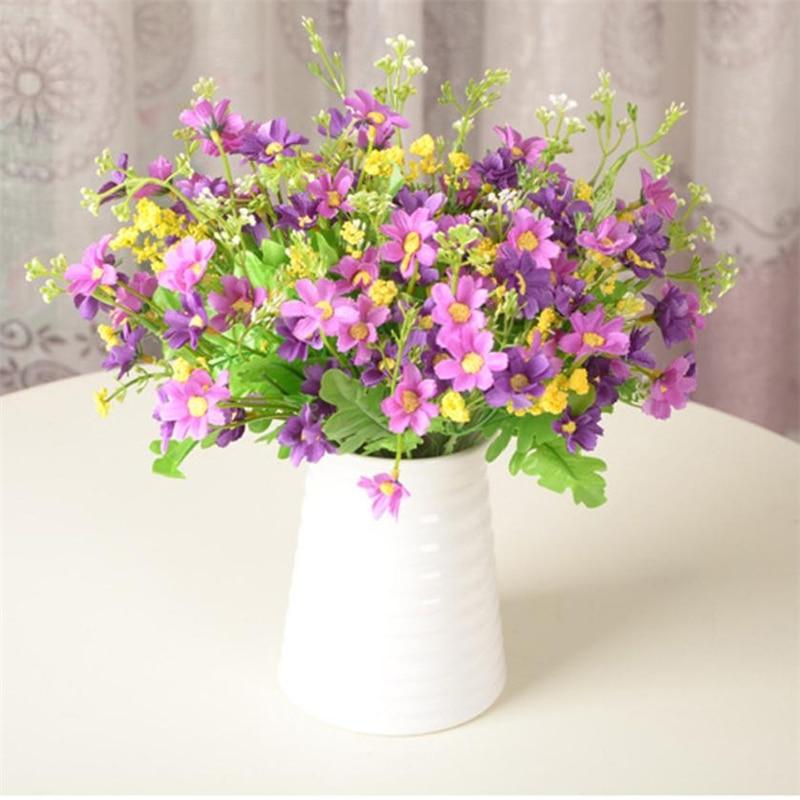 Silk Flower Wedding Bouquets For Sale: Aliexpress.com : Buy New Fake Flower Silk Leaf Artificial