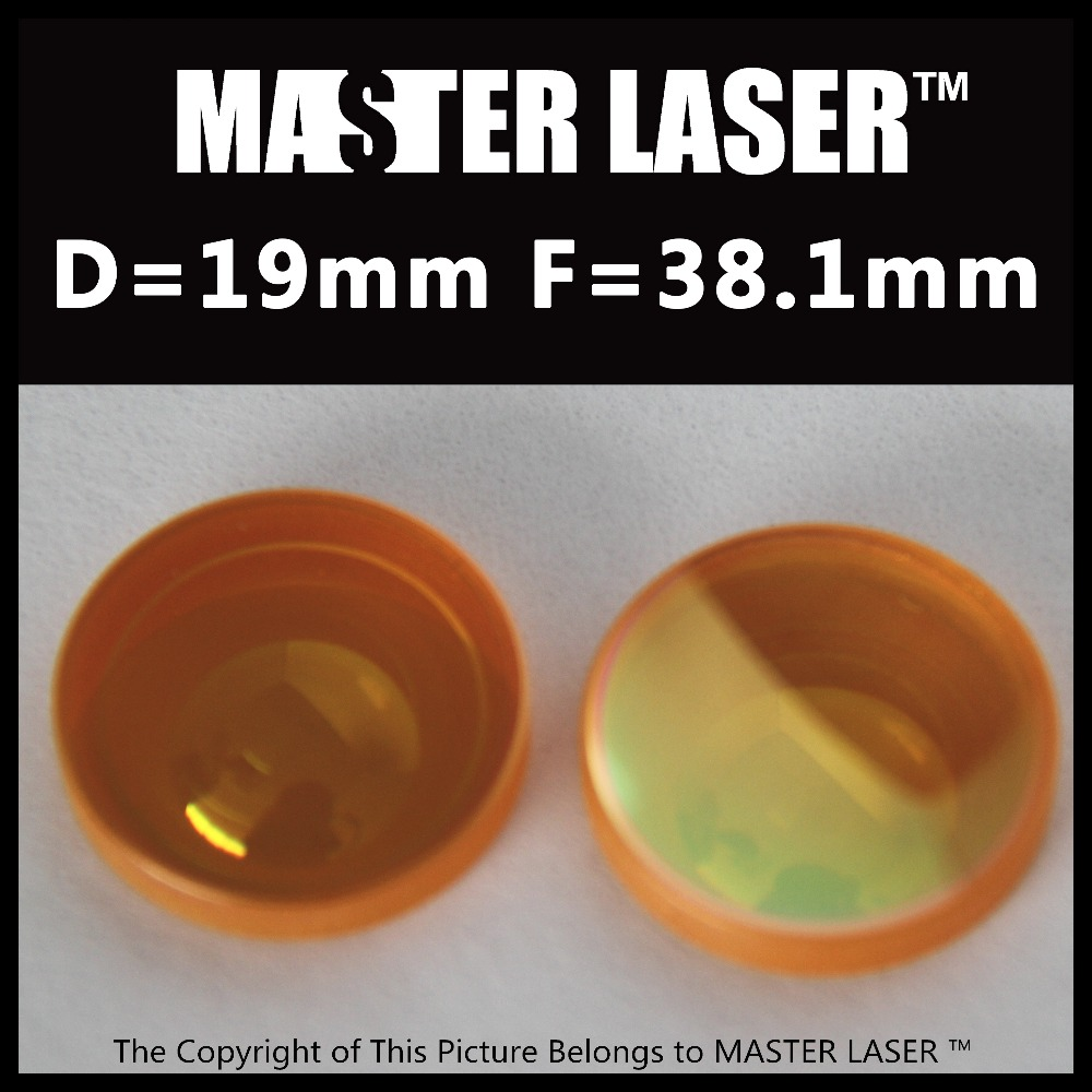 CO2 Laser Focus Lens Diameter 19mm USA ZnSe FL 38.1mm for CNC Laser Cutting Machine usa znse co2 laser lens znse 20mm diameter 127mm focus length for laser cutting machine