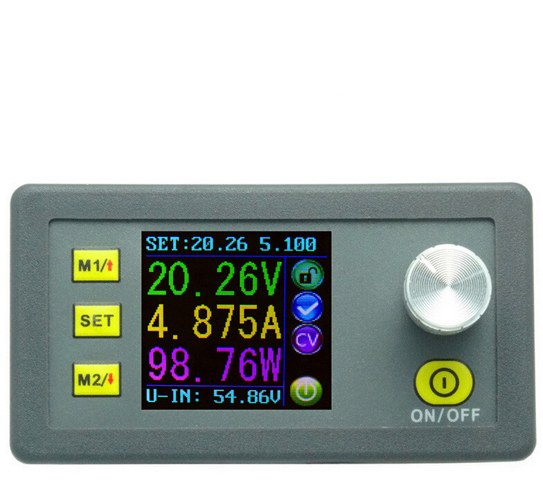 DP50V5A Constant Voltage Tester Current Meter LCD Display Voltmeter Step-down Programmable Power Supply Module Ammeter