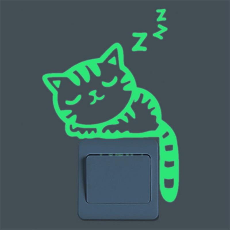 Super Bright Home Decoration Luminous DIY Funny Cute Cat