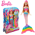 Barbie Original Brand Rainbow Lights Mermaid Doll Feature Mermaid Barbie Doll The Girl A Birthday Present Girl Toys Gift Boneca