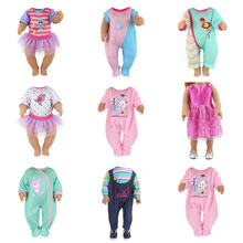 Children Best Birthday Gift(Only Sell Clothes) Multi Styles Choose Fashion Jumpsuits Clothes Wear Fit For 43cm Baby Doll(China)