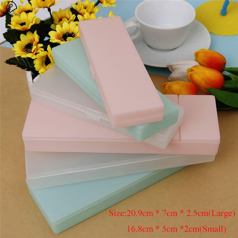 Cute pencil case Kawaii Transparent PP Plastic Pencil Case Lovely Pen Box For Kids Gift Office School Supplies Materials