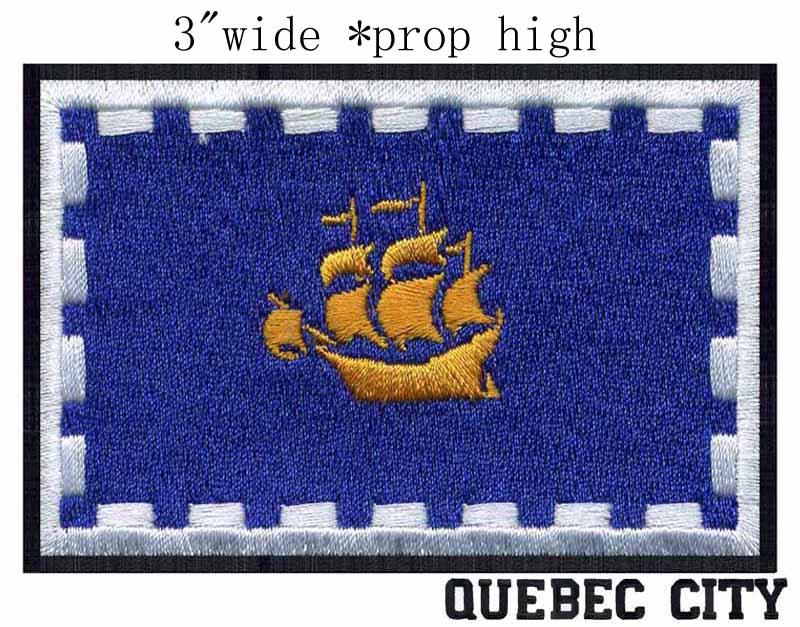 Quebec City Quebec Canada Flag 3 Wide Embroidery Patch For Ocean Boat Sailling In Patches From - Quebec City Coupons