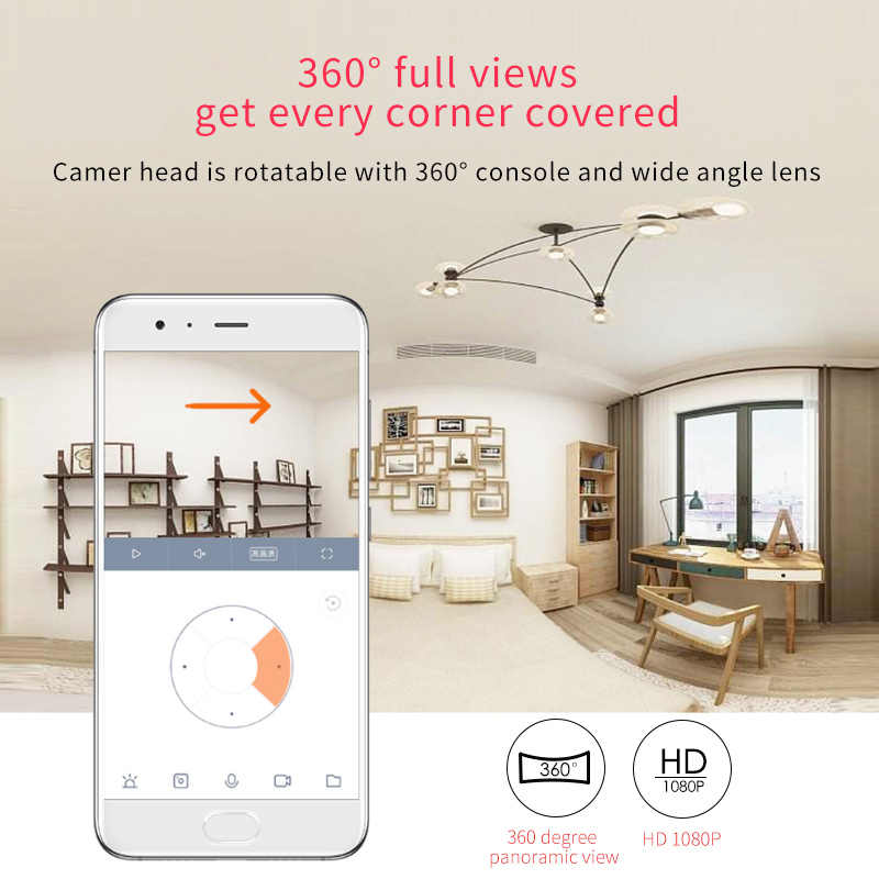 Xiaomi camera mijia smart ip 1080P camera HD 360 degree shimmer full color  night vision H 265 AI Smart wifi Camera Motion Detect