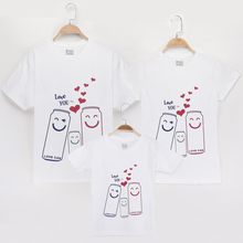 2019 T Shirt family Clothing Matching Mother And Daughter Love Can Cartoon 100% Cotton Mom Mommy And Me Outfits Father Son Shirt basketball dad mom baby girl boy family matching outfits cotton t shirt father mother son daughter print letter mommy and me kid