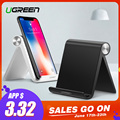 Ugreen Phone Holder Stand for iPhone 8 X 7 6 Foldable Mobile Phone Stand for Samsung Galaxy S9 S8 Tablet Stand Desk Phone Holder