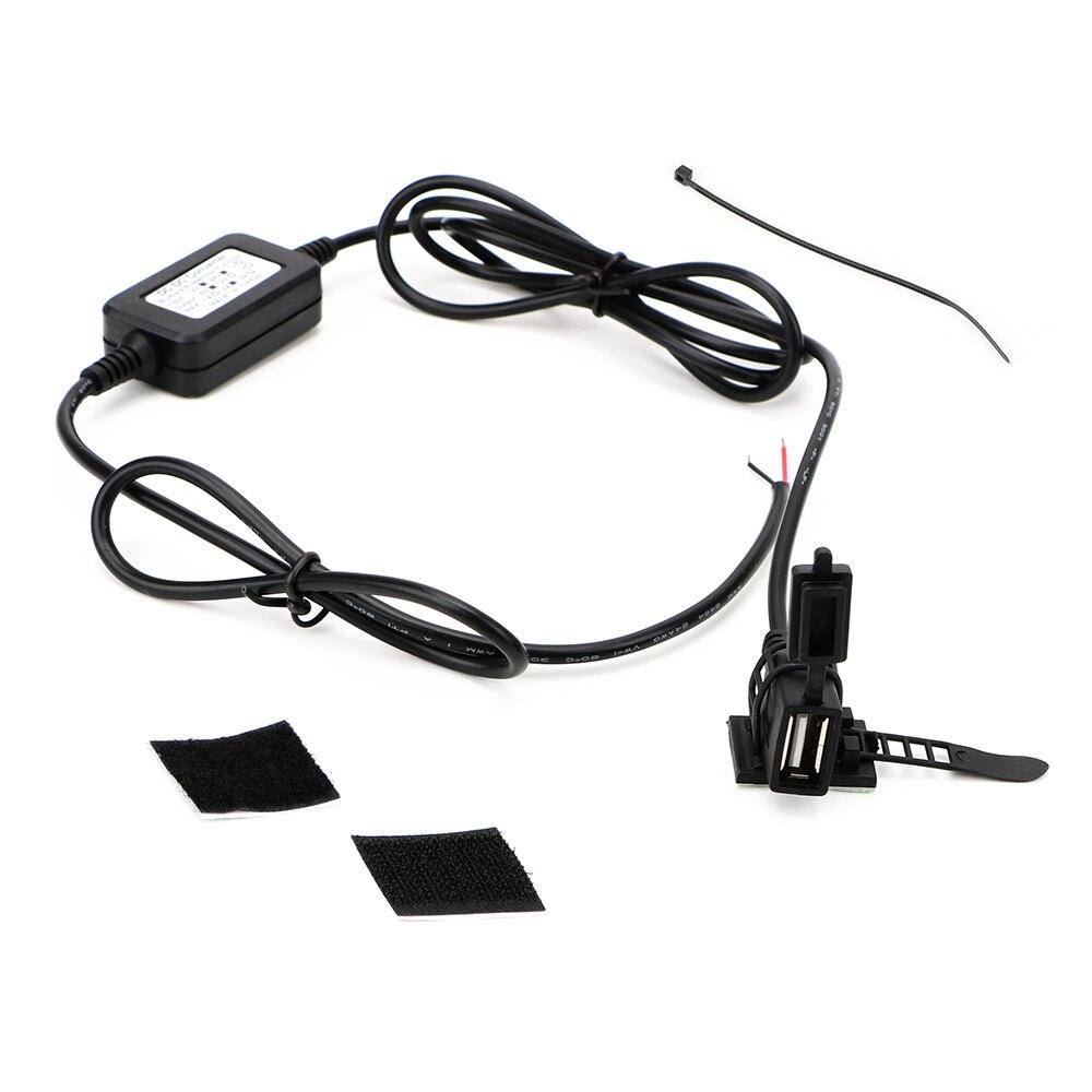 USB Port DC 5V 2A Adapter Motorcycle USB Socket Power Supply Socket USB Converter Motorbike Handlebar Charger For Phone GPS