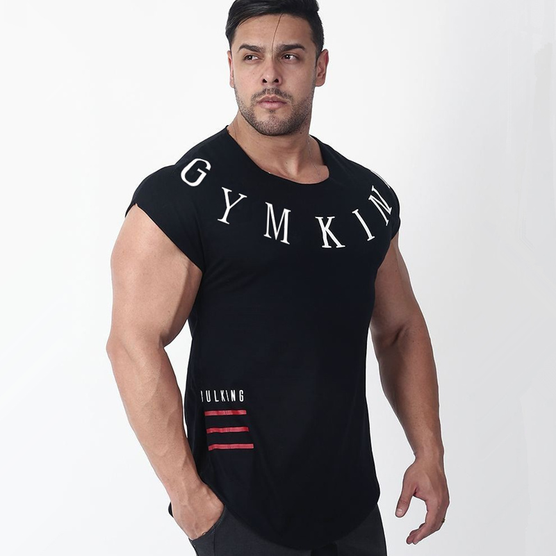 Mens Summer Run Jogging Sports Cotton T-shirt Man Gym Fitness Bodybuilding t shirt Male Workout Training Tee Tops Brand Clothing