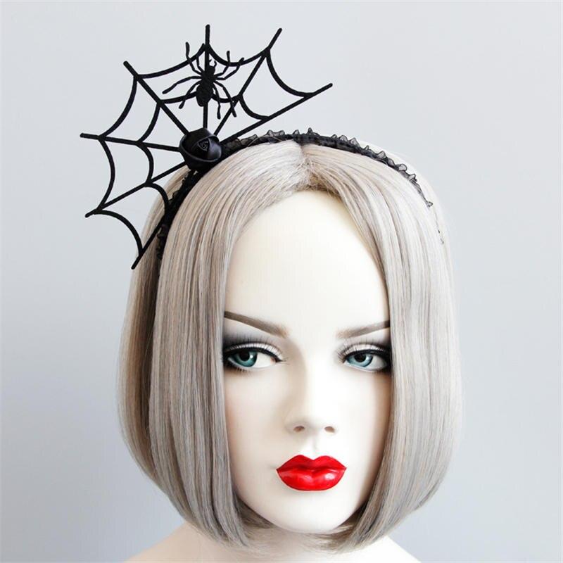 Apparel Accessories Haimeikang Spider Web Halloween Party Hairband Hairbands Girls Gothic Headband Ladies Head Wear Hair Accessories