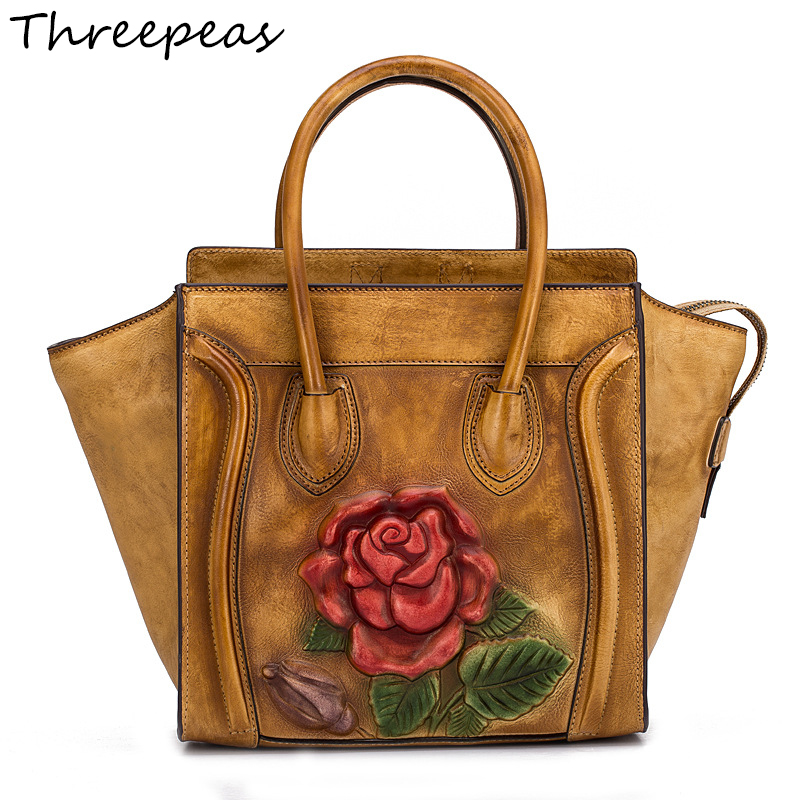 THREEPEAS Women Bag Genuine Leather Women Messenger Bags Crossbody Designer Ladies Shoulder Bag Bolsa Feminina genuine leather handbag 2018 new shengdilu brand intellectual beauty women shoulder messenger bag bolsa feminina free shipping