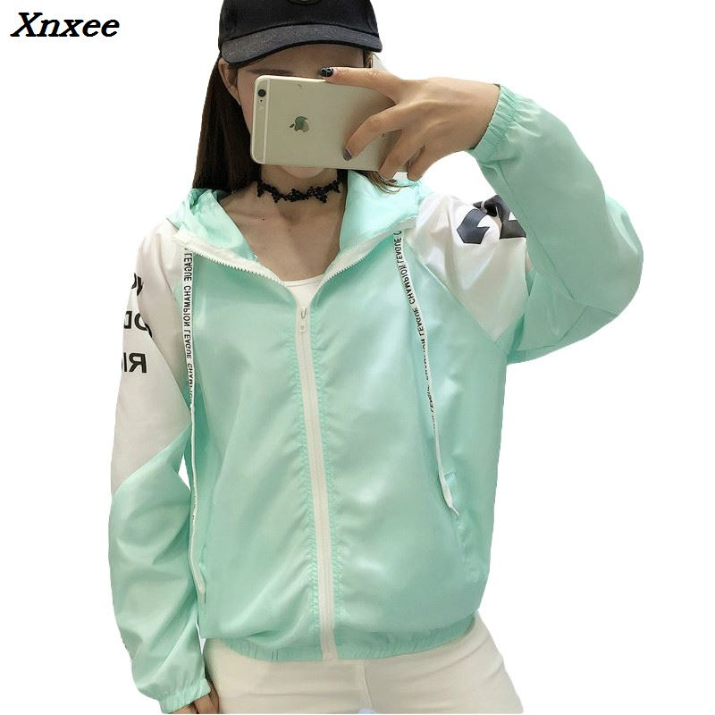 Jackets   Women 2018 New Fashion Women's Hooded   Basic     Jacket   Casual Thin Slim Windbreaker Female Outwear Women Coat Long Sleeve