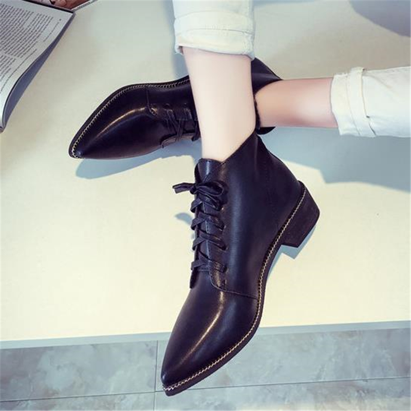be2307469888 2018 Best selling European women s spring shoes fashion patent leather  pointed toe vintage leather Chelsea boots British style-in Ankle Boots from  Shoes on ...