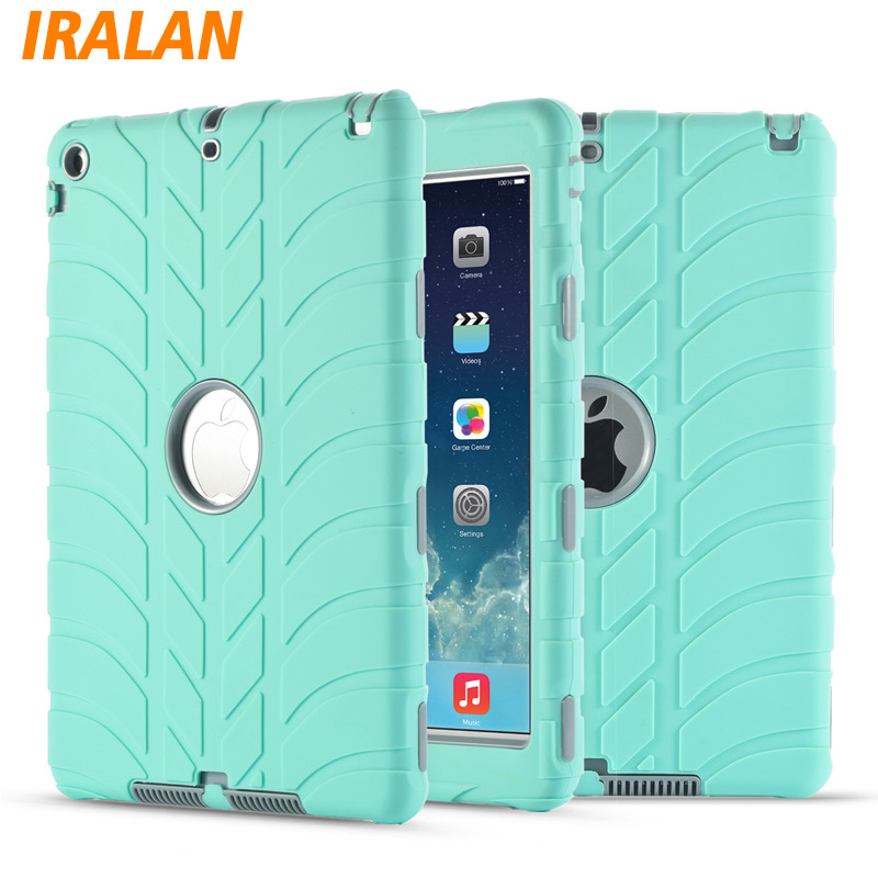 Hybrid Armor Case For iPad Air 1/iPad 5 Kids Safe Shockproof Heavy Duty Silicone Hard drop resistance ipad tablet accessories