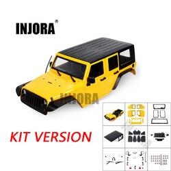 INJORA Unassembled 12.3inch 313mm Wheelbase Body Car Shell for 1/10 RC Crawler Axial SCX10 & SCX10 II 90046 90047
