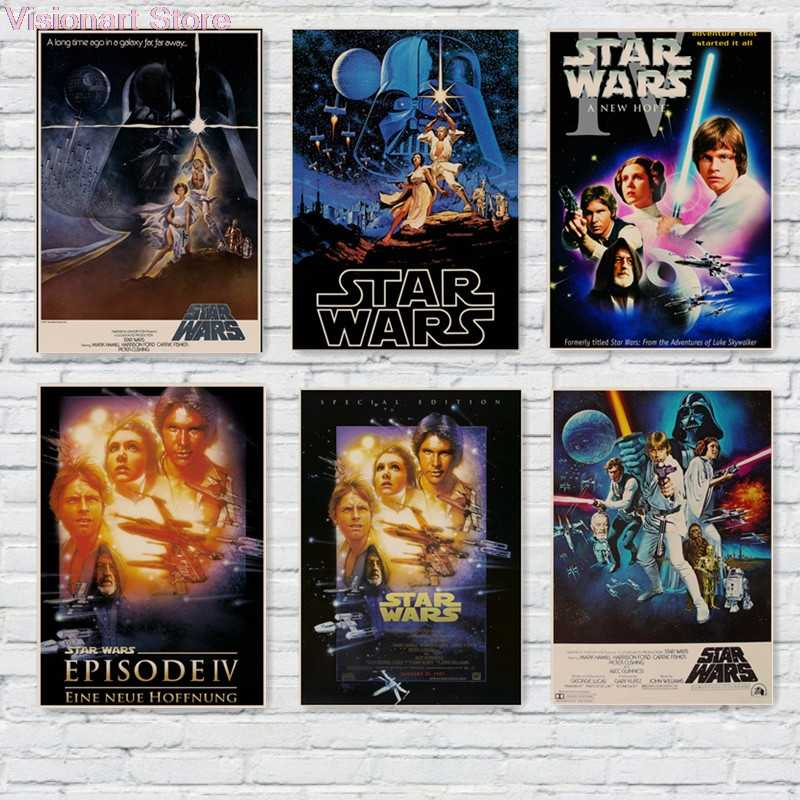 Star War Posters Iv A New Hope Movie Wall Sticker Home Decor Vintage Retro Mo71 Stickers Home Decor Star Wars Posterwall Sticker Aliexpress
