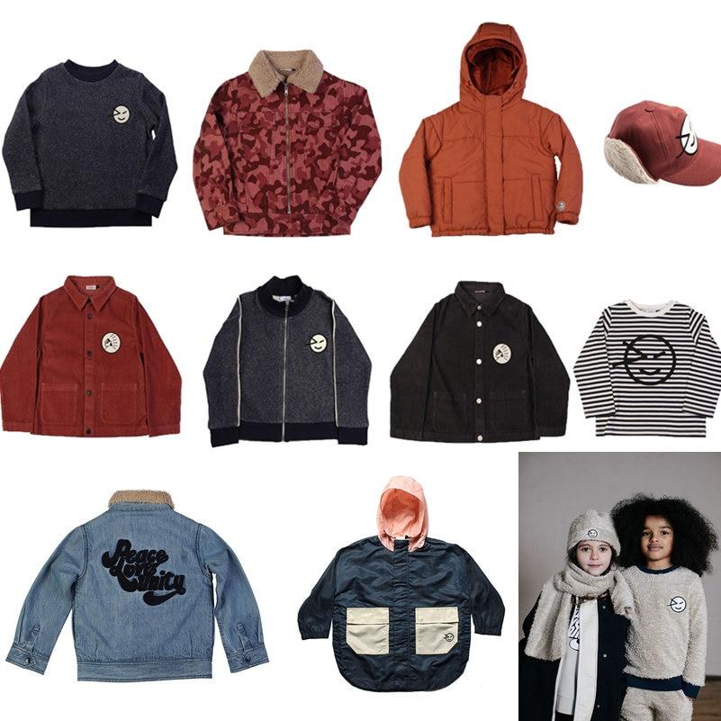 Kids Jackets T-shirts Wynken Face Trench Coat Children Clothing Zipper Baby Girls Sweatshirt Boys Clothes Outerwear 2021 Winter 1