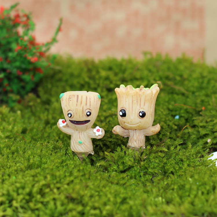 In Stock Brinquedos Guardians Of The Galaxy Mini Cute Groot Model Action And Toy Figures Cartoon Movies And TV new funko pop guardians of the galaxy tree people groot
