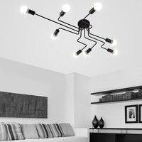Lámparas de techo clásicas para sala de estar luminacion de techo de hierro forjado bombilla E27 accesorios de iluminación para el hogar