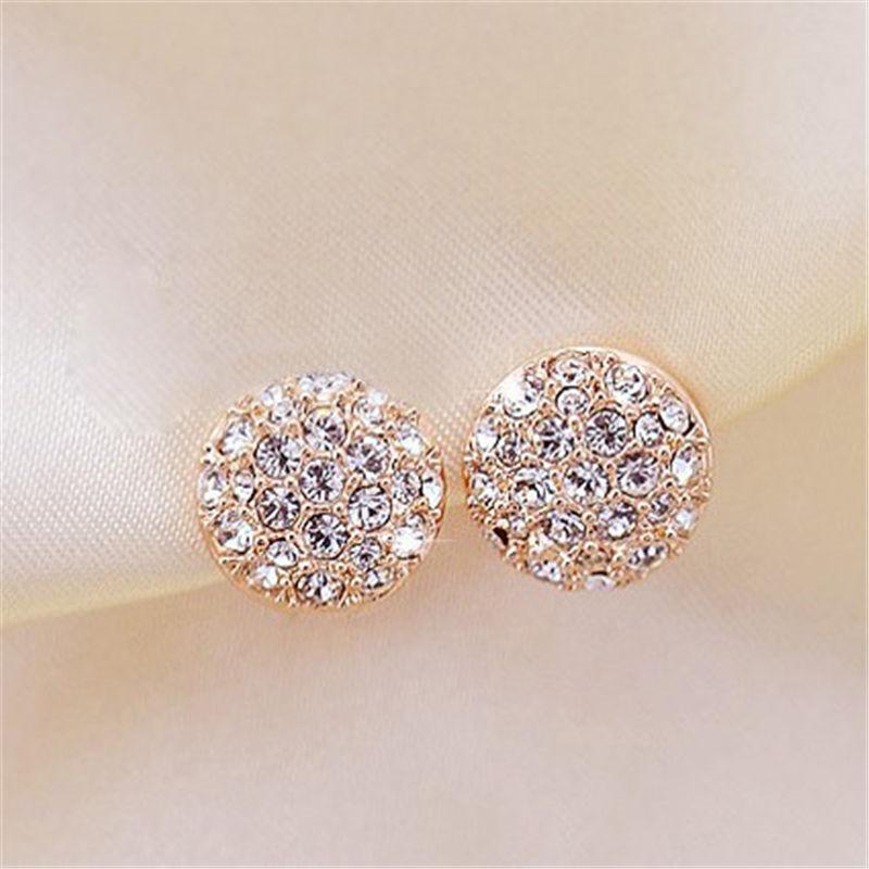 Новый Brincos Mujer золото Цвет сплава горный хрусталь серьги для Для женщин уха ювелирных изделий кристалл серьги женский Bijoux e0320