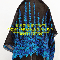 130*70cm jacquard spring and autumn dress jacket outwear fabric pink and blue available S078